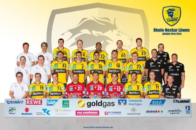 Mannschaftsbild Rhein Neckar Löwen 2014/2015