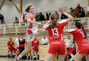 Christiane Baum bei einem ihrer Treffer